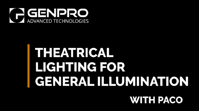 Theatrical Lighting for General Illumination