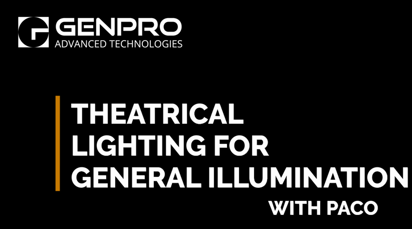 Theatrical Lighting for General Illumination of Large Spaces